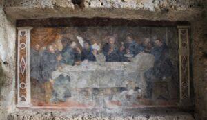 Eremi di San Benedetto - interno della cappella rupestre